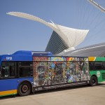 Collaborative Bus Mural: ONE: MKE (inspired by the 30 Americans show)