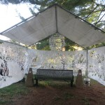 Outdoor Papercut Collaborative Installation: Gathering Smoke