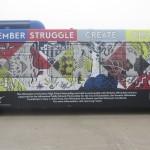 bus mural, detail