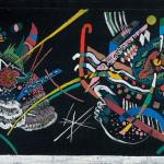 Kandinsky, juryfreie mural, recreated from 1922 design, Panel A